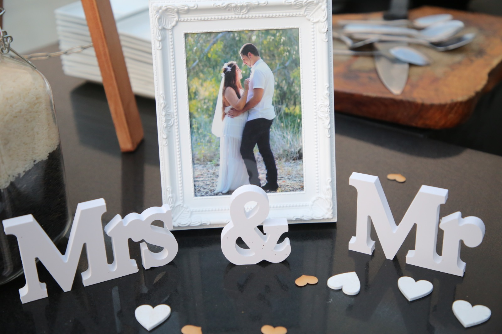 עיצוב בעמדת כניסה לחתונה DIY 3