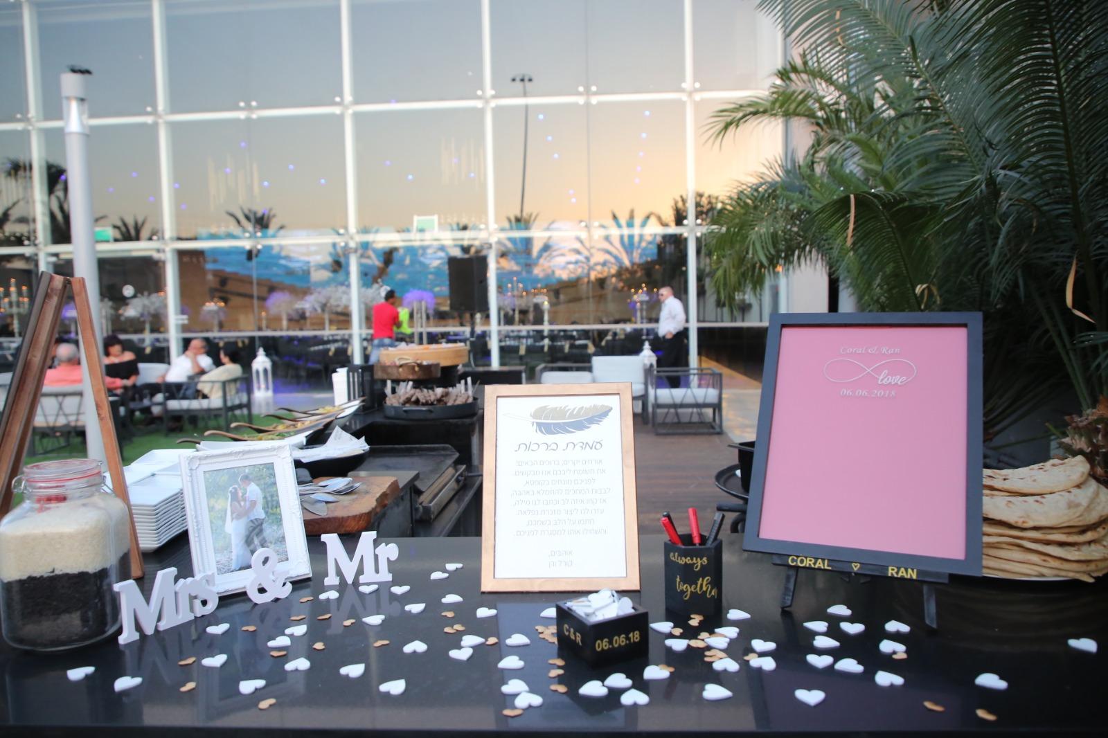 עיצוב בעמדת כניסה לחתונה DIY 4